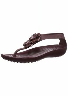 Crocs Women's Serena Embellish Flip Sandal   M US