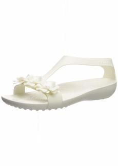 Crocs Women's Serena Embellish Sandal Flat oyster/oyster  M US