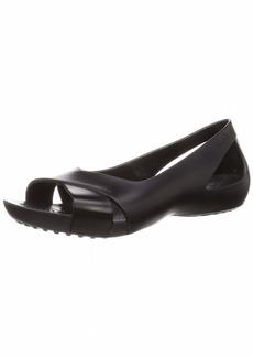 Crocs Women's Serena Flat | Slip On Work Walking Shoes Ballet   M US