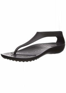 Crocs Women's Serena Flip Flop black/black  M US