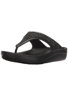 crocs Women's Sloane Embellished Flip Flop   M US