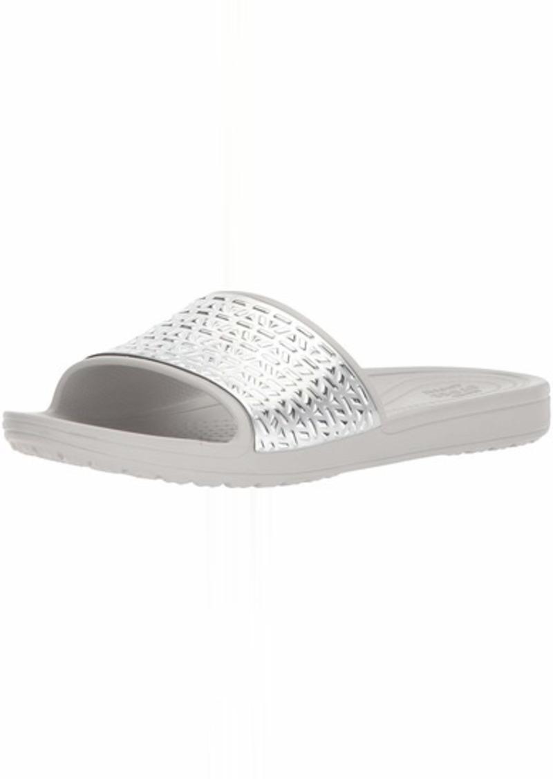 Crocs Women's Sloane Graphic Etched Slide W Sandal   M US