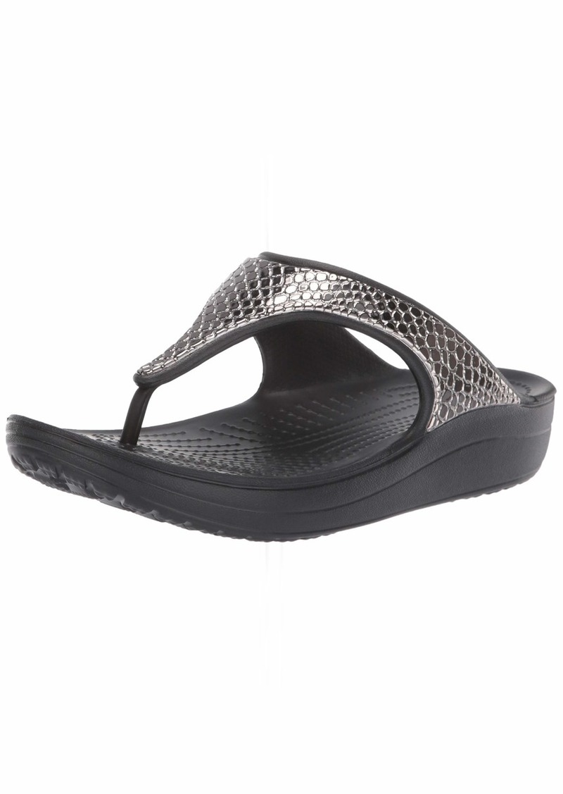 Crocs Women's Sloane MetalText Flip Flop   M US