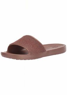 Crocs Women's Sloane Ombre Diamante Slide Sandal Melon Bronze  M US