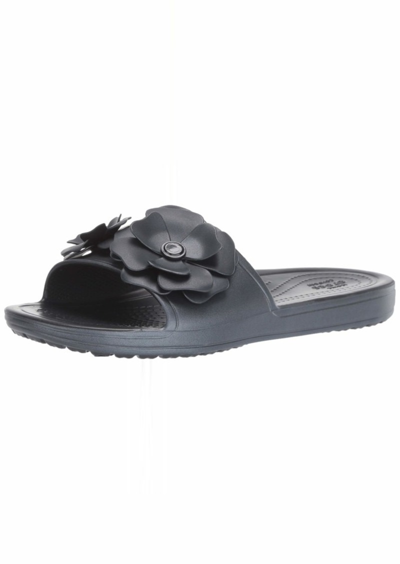 Crocs Women's Sloane Vivid Blooms Slide Sandal Black  M US