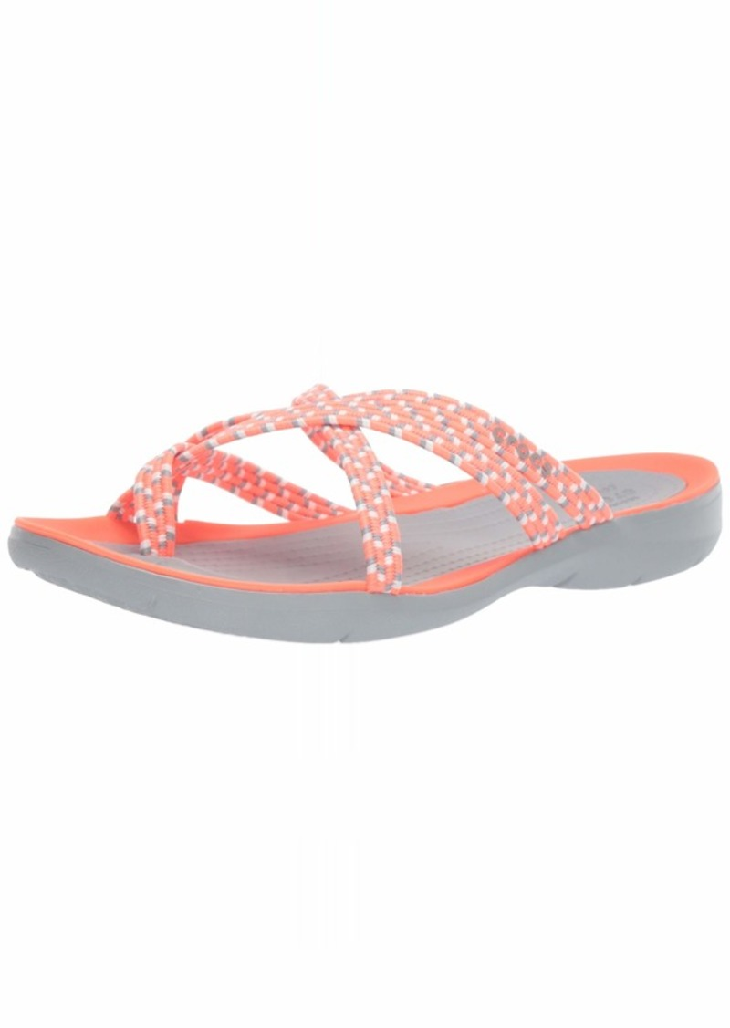 Crocs Women's Swiftwater Braided Web Flip Flop   M US
