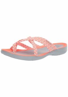 Crocs Women's Swiftwater Braided Web Flip Flop   M US