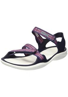 crocs Women's Swiftwater Graph Webbing Sandal Sport navy/diamond  M US