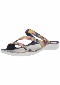 Crocs Women's Swiftwater Tie Dye Sandal Casual Slip On Water and Beach Shoe Slide   M US