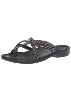 Crocs Women's SwiftwaterBFlpW Flip-Flop Black  M US