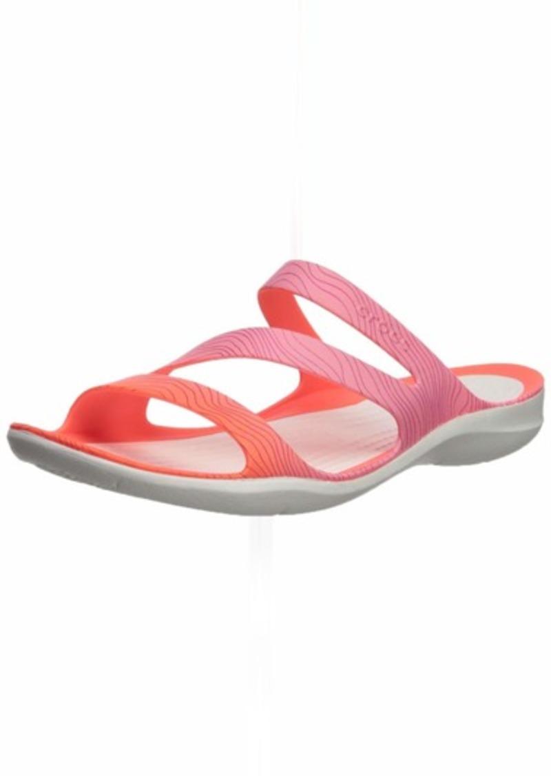 Crocs Women's Swiftwatersslw Slide Sandal   M US