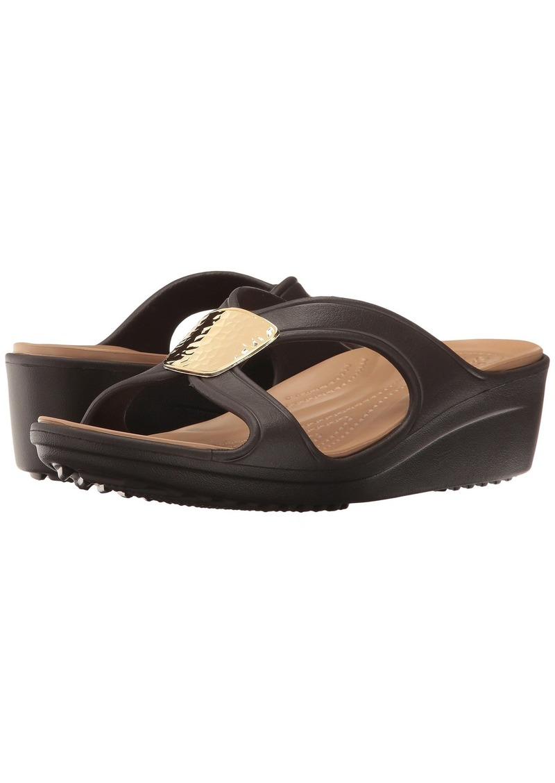 7d4316da9e3e On Sale today! Crocs Sanrah Embellished Wedge