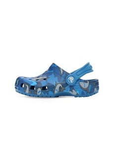 Shark Print Rubber Crocs