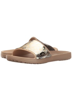 Crocs Sloane Graphic Metallic Slide