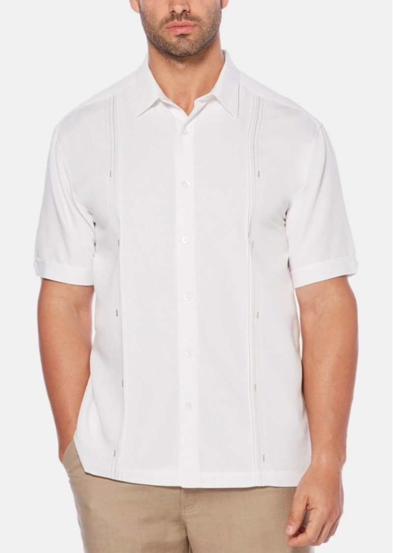 Cubavera Men's Big & Tall Double Tuck Short-Sleeve Shirt