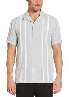 Cubavera Men's Big & Tall Ecoselect Contrast Panel Short Sleeve Button-Down Shirt  2X Large Tall