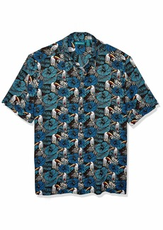 Cubavera Men's Big Big & Tall Tropical Toucan Print Shirt  2X Large Tall