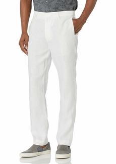 Cubavera Men's Delave Linen Flat Front Pant