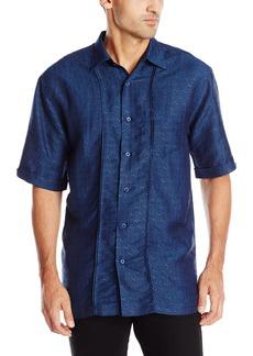 b8b70d7927 Cubavera Cubavera Men s Cross Dyed Guayabera Woven Shirt