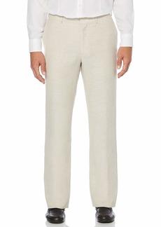 Cubavera Men's Easy Care Linen Blend Flat Front Pant