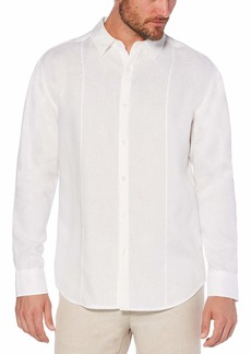 Cubavera Men's 100% Linen Tuck Shirt  Extra Large