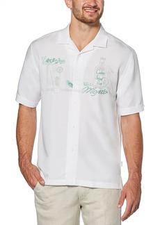 Cubavera Men's Necesito Mojito Embroidery Short Sleeve Button-Down Shirt