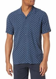 Cubavera Men's Short Sleeve 100% Viscose Geometric Print Shirt  X Large