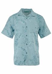 Cubavera Men's Short Sleeve Floral and Leaf Jacquard Shirt  XX Large