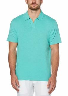 Cubavera Men's Signature No-Button Short Sleeve Polo Shirt