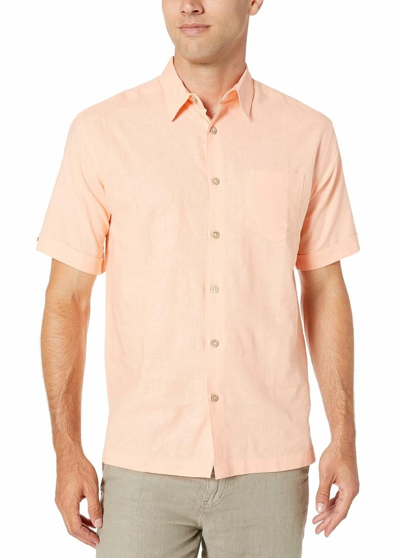 Cubavera Men's Solid Chest Pocket Shirt