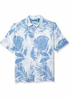 Cubavera Men's Tropical Leaf Print Short Sleeve Shirt