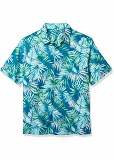 Cubavera Men's Big & Tall Tropical Print Short Sleeve Button-Down Shirt  2X Large