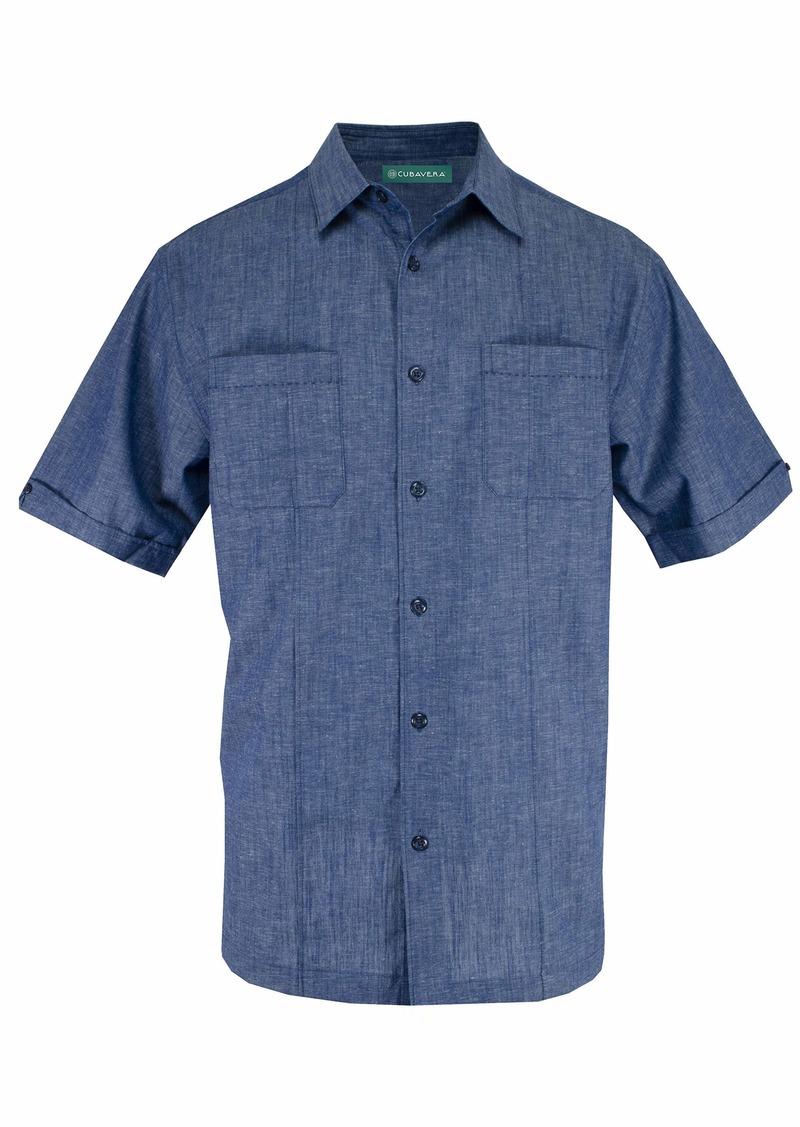Cubavera Men's Two-Pocket Pintuck Short Sleeve Shirts
