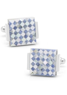 Cufflinks Inc. Floating Mother of Pearl Checkered Cufflinks