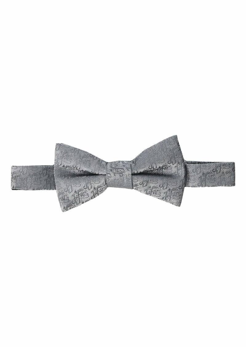 Cufflinks Inc. Jafar Writing Motif Gray Bow Tie
