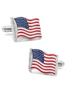 Cufflinks Inc. Waving American Flag Cufflinks