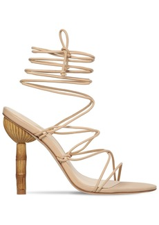 Cult Gaia 100mm Soleil Leather Lace Up Sandals