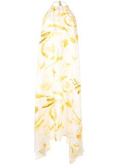 Cult Gaia abstract print silk dress