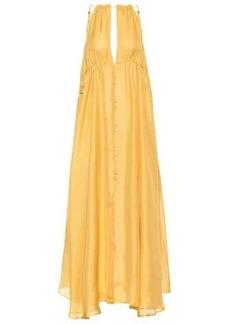 Cult Gaia Agatha silk maxi dress
