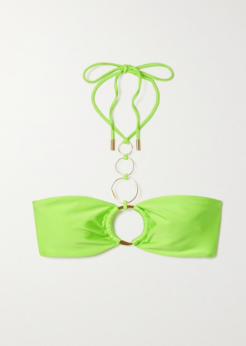 Allie Embellished Halterneck Bikini Top