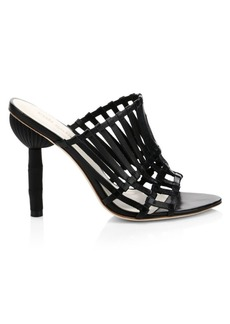 Cult Gaia Ark Leather Cage Heels