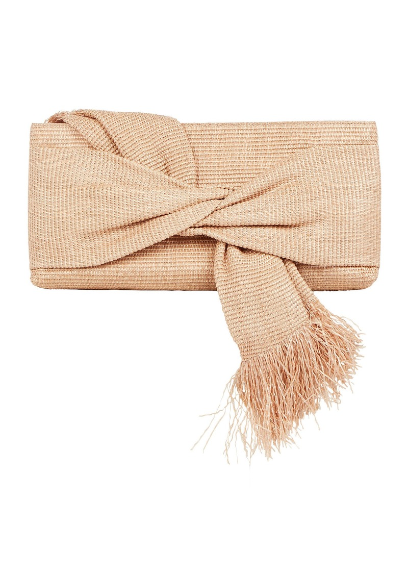 Cult Gaia Banu Twisted Raffia Clutch