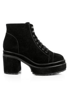 Cult Gaia Bratz Velvet Block-Heel Boots