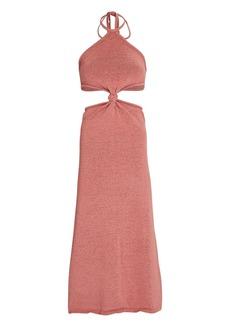 Cult Gaia Cameron Knit Cut-Out Midi Dress