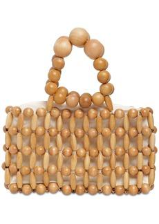 Cult Gaia Cora Wooden Beads Clutch