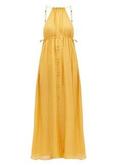 Cult Gaia Agatha keyhole-front silk dress