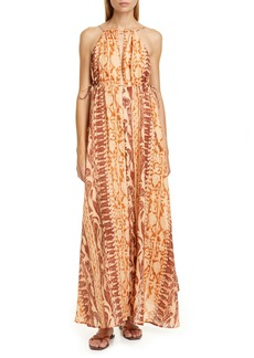 Cult Gaia Agatha Linen Maxi Dress