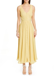 Cult Gaia Angela Buckle Back Maxi Dress