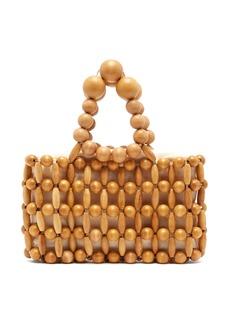 Cult Gaia Cora bamboo beaded bag