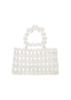 Cult Gaia Cora top-handle beaded acrylic bag